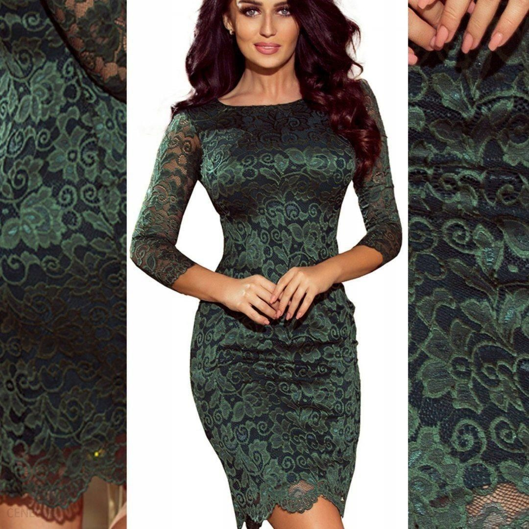 ac388a5ba4 NUMOCO 180-3 Sukienka koronkowa Wesele ZIELONA XL - Ceny i opinie ...
