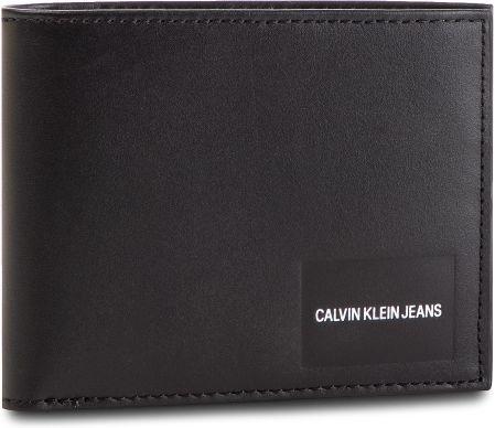 30cc09de06674 Duży Portfel Męski CALVIN KLEIN JEANS - Coated Canvas Billfold W Coin  K40K400836 001 eobuwie