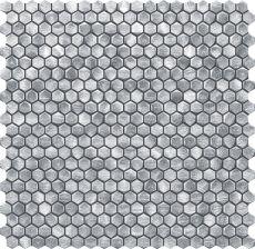 Tubądzin Drops Metal Silver Hex Mozaika 30x302