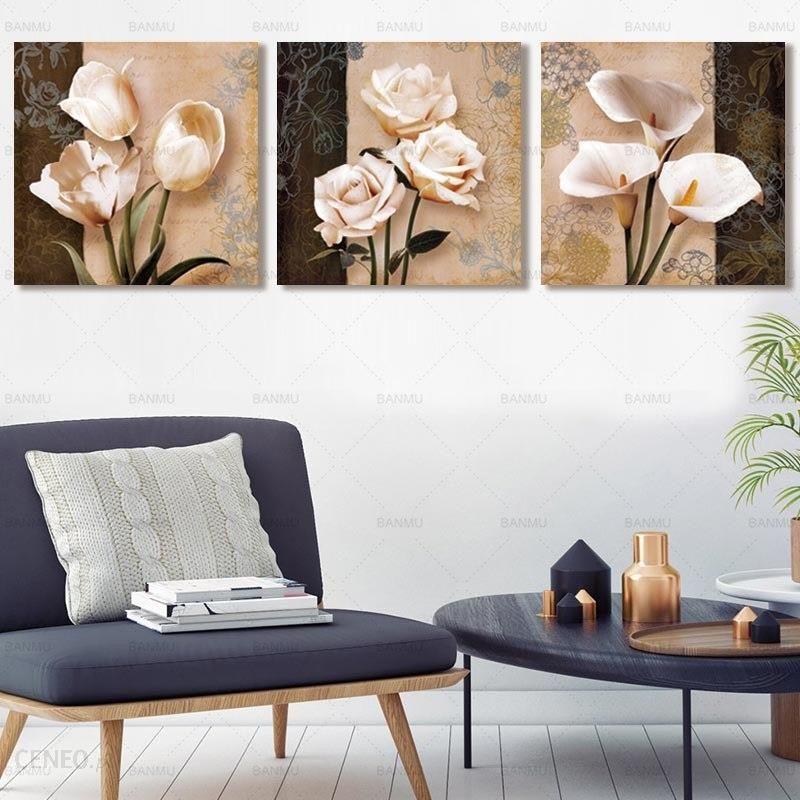 Aliexpress Plakat Płótnie Malarstwo 3 Sztuka Kwiat Modułowa Obraz Na ścianie Dekoracyjne Zdjęcia ścienny Do Korytarza Bez Ramki Wystrój Domu Art