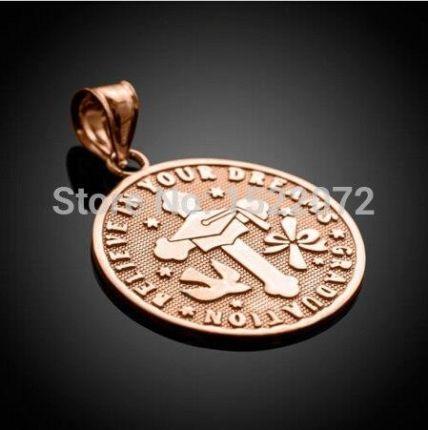 25a9a53bcb96 AliExpress Wysoka jakość i niska cena Złota Róża Odwracalne Graduation  Medalion Urok tanie zwyczaj rose złote