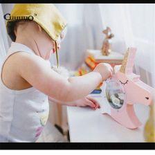 4d892da62 AliExpress 1 Sztuk Drewniane Rzemiosło Zabawki Jednorożec Unicgy Drewna  Skarbonka Monety Błoto Biały Trojan Zaoszczędzić Pieniądze