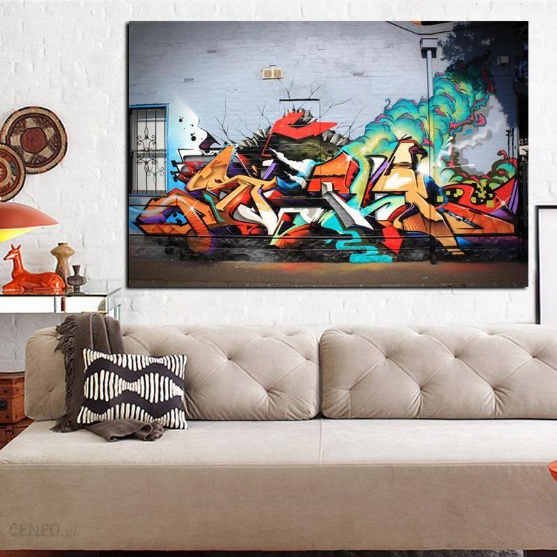 Aliexpress Hd Drukuj Wybuch Graffiti Street Art Wulkaniczne Abstrakcyjne Pop Sztuki Malowania Na Płótnie Plakat ścienne Cuadros Obraz Do Salonu