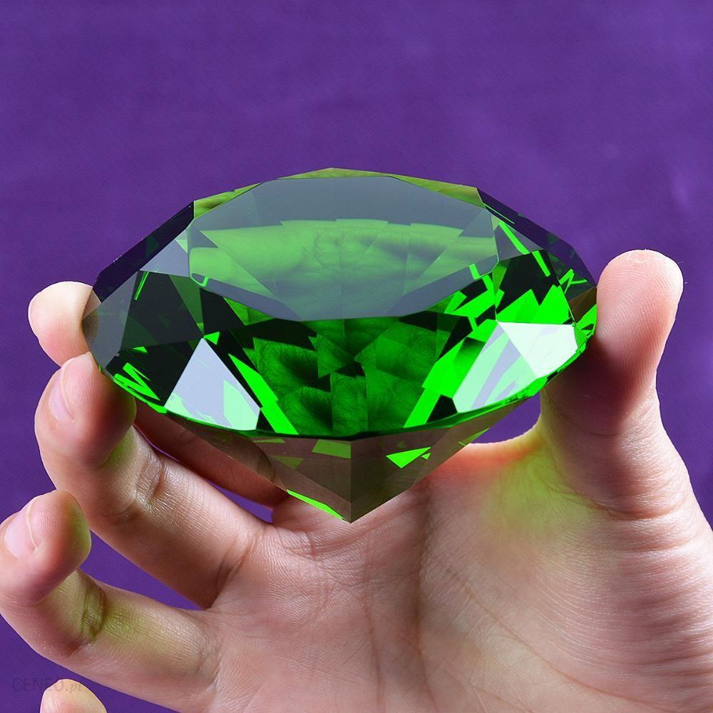 Aliexpress Statek Z Usa 80mm Zielony Kryształ Diamentu Paperweight