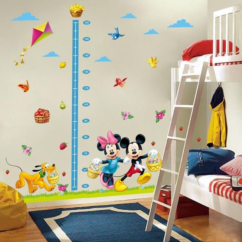 Aliexpress Minnie Mickey Donald Duck Wykres Wzrostu Naklejki ścienne