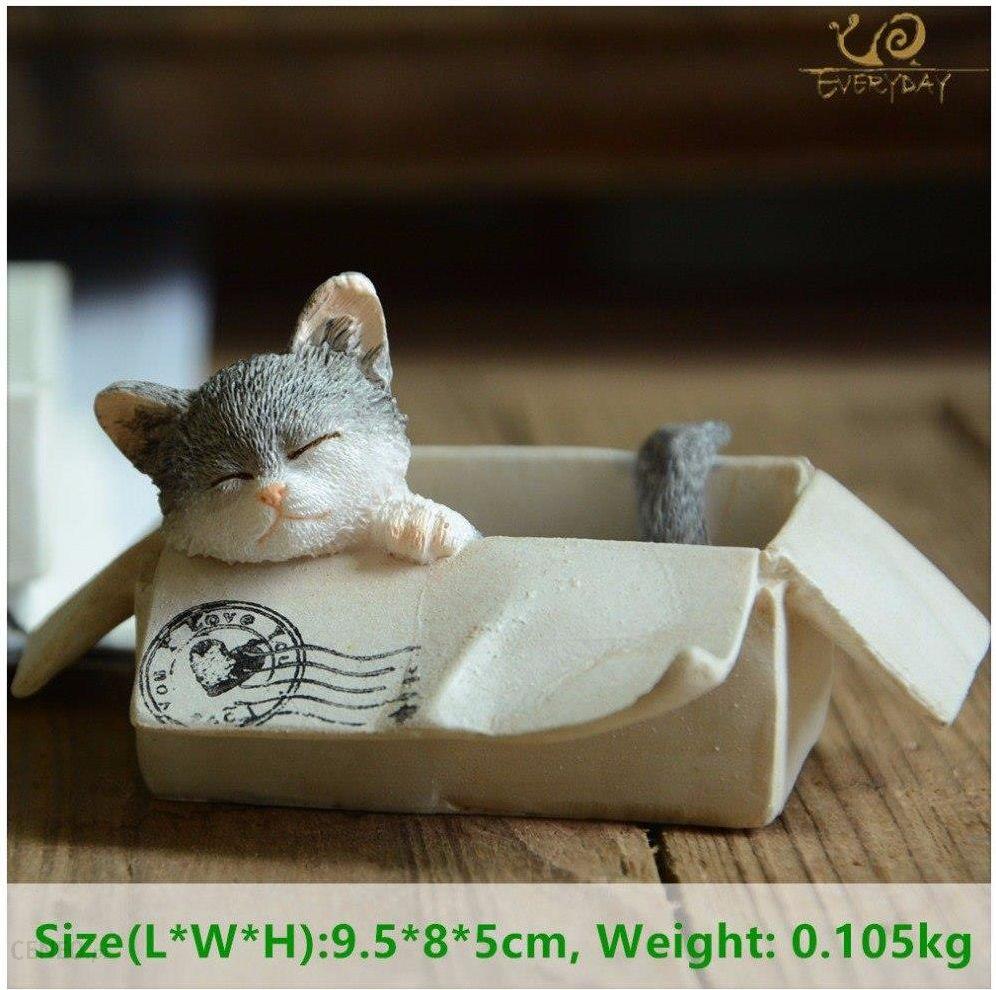 Aliexpress Codziennie Kolekcja Wielkanoc Kawaii Kot Akcesoria Do Dekoracji Domu Figurki Zwierząt Maneki Neko Rzeźby Miniaturowe Bajki Ogród Ceneopl