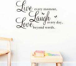 Aliexpress Live Laugh Love Cytaty Naklejki Scienne Dekoracje Domu
