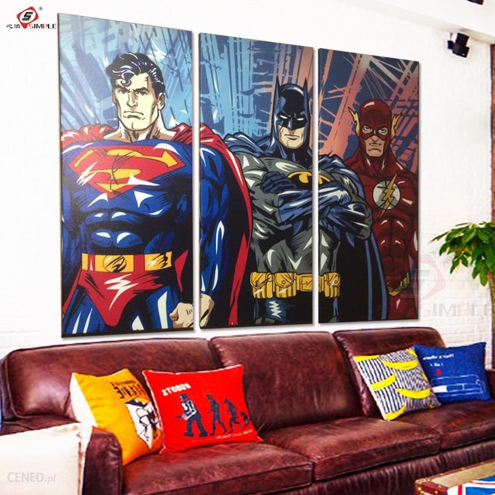 Aliexpress Super Hero Obraz Olejny Dekoracyjne Zdjęcia Sztuki Plakaty I Reprodukcje Na Płótnie Malarstwo ścienne Do Salonu Wystrój Domu 3 Sztuk