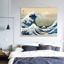 AliExpress Japonia Wielka Fala Z Kanagawa Przewin Malarstwo Art Home Decor Canvas Malowanie Na Scianie Salonu