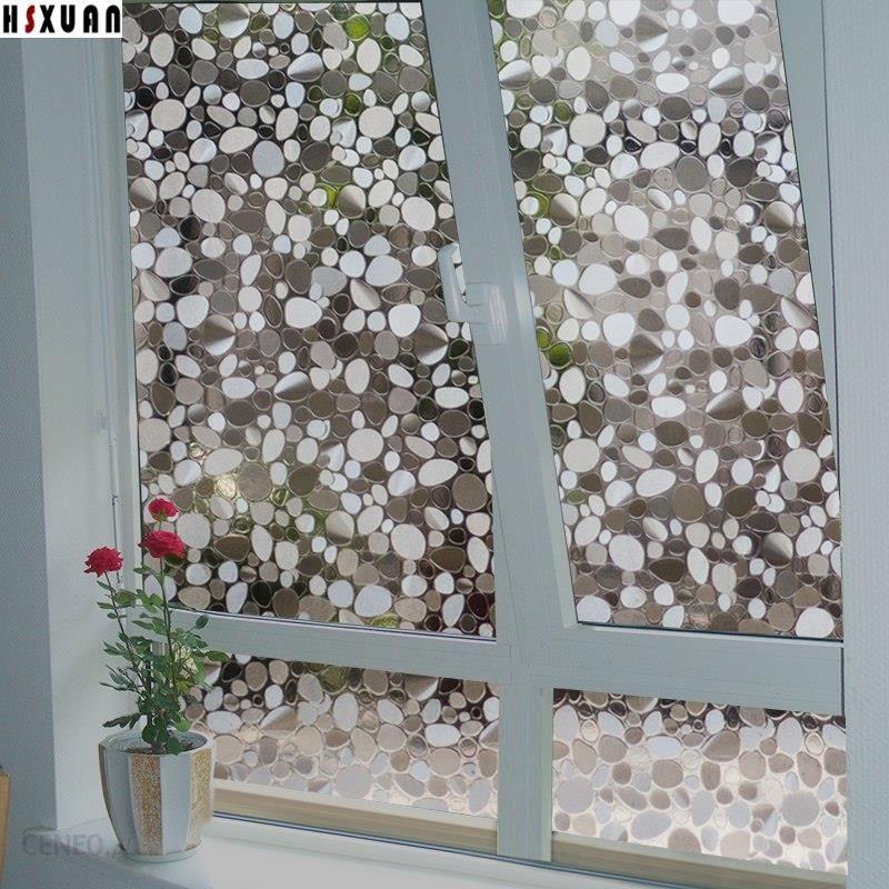 Aliexpress Dekoracyjne Okna Izolacji Filmu 50x100 Cm 3d Kamyki Translucent Salon Szybę Naklejki Hsxuan Marki 508003 Ceneopl