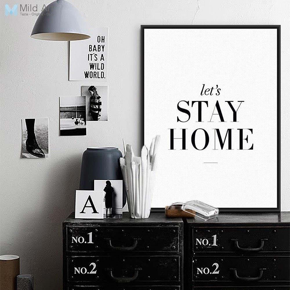 Aliexpress Minimalistyczne Czarne Białe Motywacyjne Cytaty