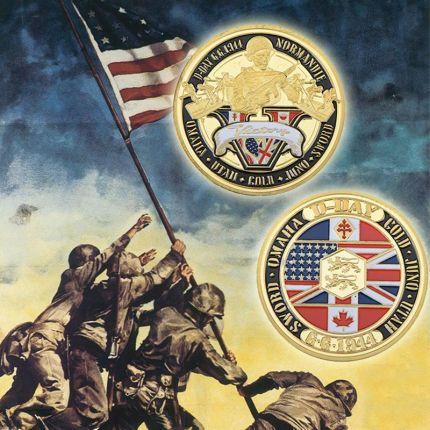 083b16711ad6 AliExpress Normandie Wojny 70-rok Rocznica Pozłacane Monety Medal Wojskowy  40 3 Wyzwaniem Monety