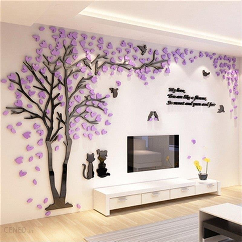 Aliexpress Kreatywny Kilka Drzewa Naklejki 3d Akryl Stereo Naklejki ścienne Wystrój Domu Salon Sypialnia Sofa Tv Tło ściany Sztuka Dekoracyjna
