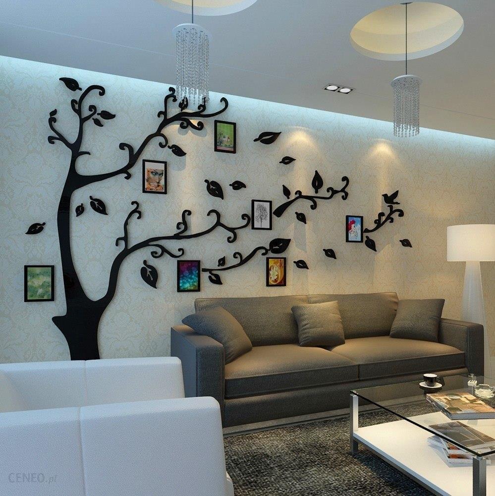 Aliexpress Tanie 12 Sztuk Ramka Drzewo Naklejki ścienne Kryształ Akrylowe 3d Stereo Fototapety ścienne Wejście Salon Tv Sofa Tło Dekoracyjne