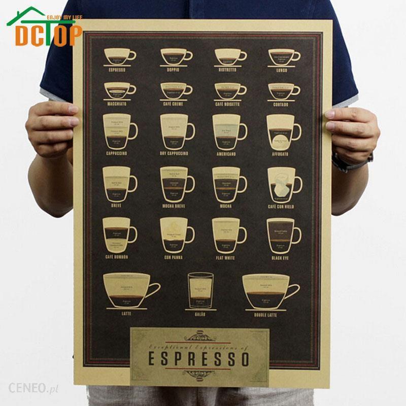 Aliexpress Filiżanka Kawy Vintage Plakaty Obraz Papier Pakowy Naklejki ścienne Home Cafe Restauracja Kuchnia Bar Dekoracji W Stylu Retro Papieru