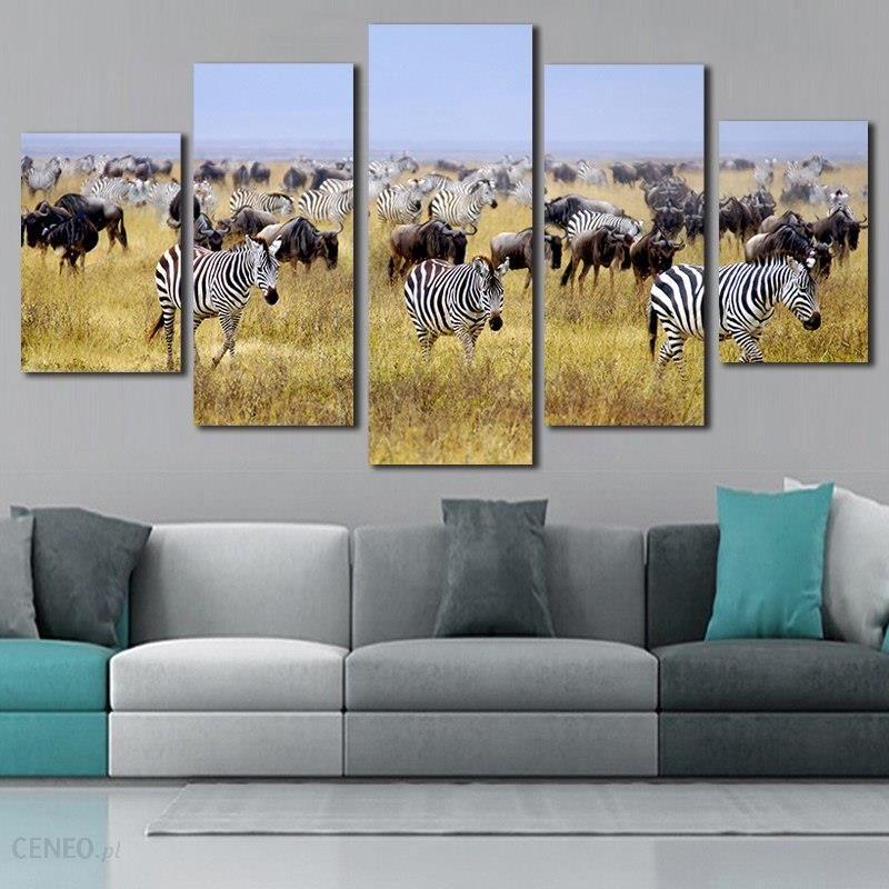 Wybitny AliExpress Zebra Płótna 5 Sztuka Wall Art Salon Dekoracyjne Duże RI64