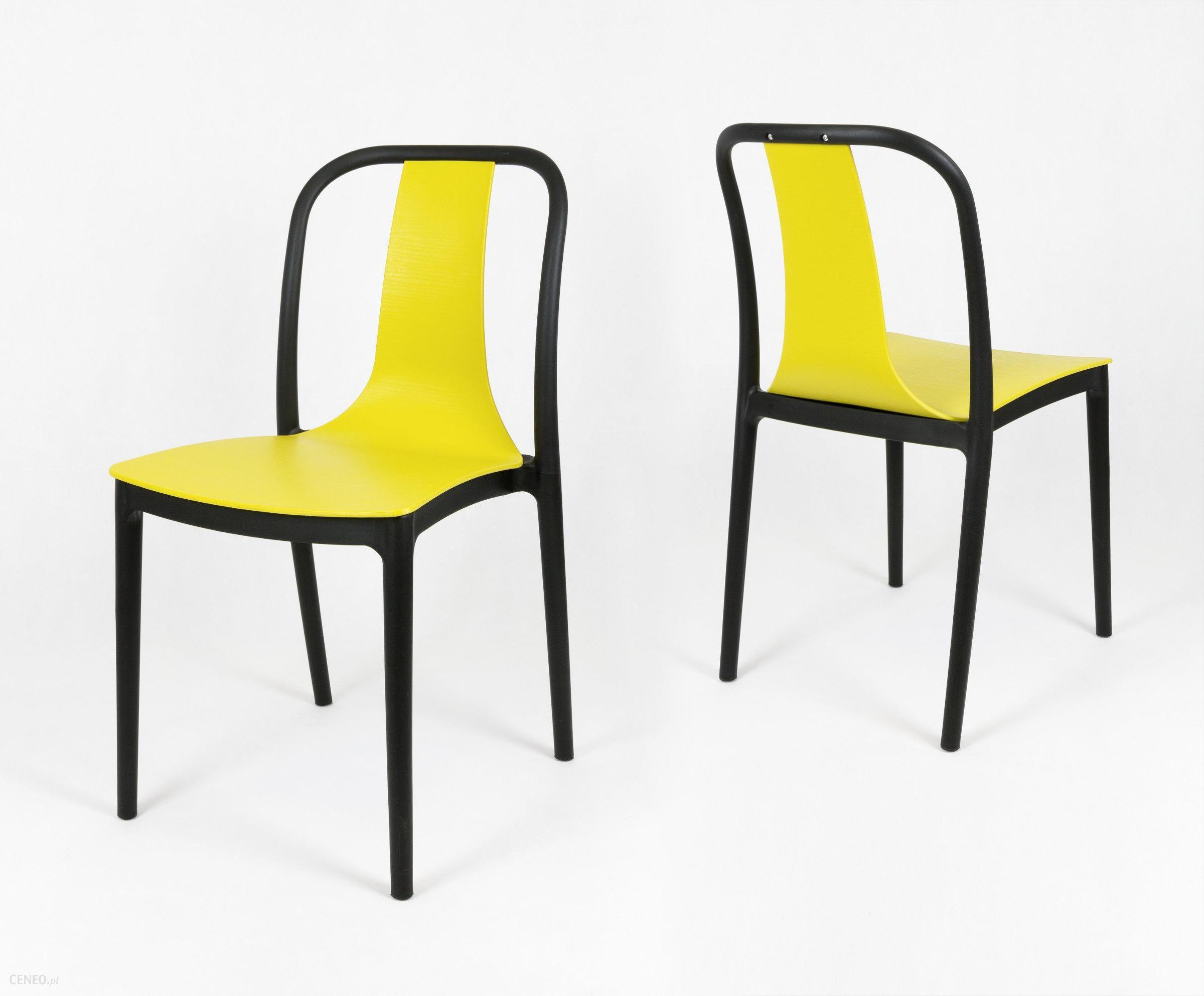 Sk Design Kr053 Żółte Krzesło Żółty Czarny 1080Uniw
