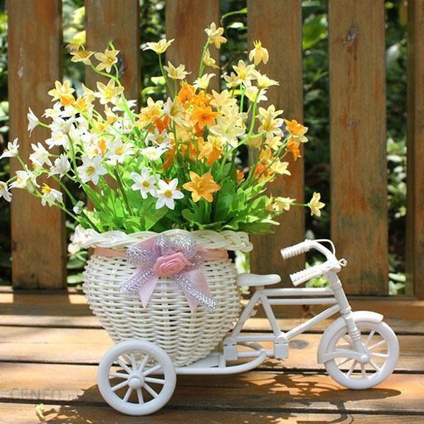 Aliexpress Biały Rower Trójkołowy Projekt Kwiat Kosz Przechowywania