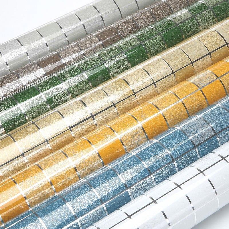 Aliexpress 10 Meter Folii Aluminiowej Samoprzylepne Mozaika Naklejki Kuchnia Anti Winylu Wodoodporna Naklejki ścienne Tapety Wysoka Temperatura Oleju
