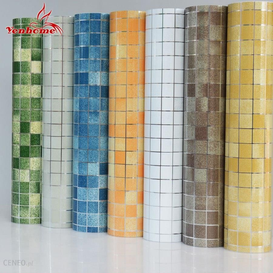 Aliexpress 10 M Pvc Mozaika Naklejki ścienne łazienka Wodoodporna Samoprzylepne Tapety Kuchni Blat Naklejki Dla Srebrny Szary ściany Papieru