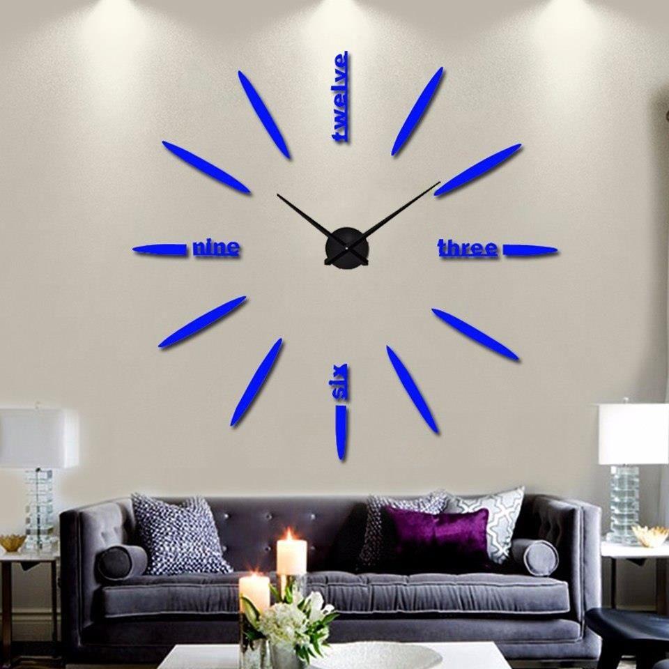 Aliexpress Muhseinhome Dekoracji Salonu Mody Zegarki Zegar Kwarcowy Krótkie Duże Zegary 2017 Nowy Cicha Zegar ścienny Saat Styl Klasyczny Ceneopl