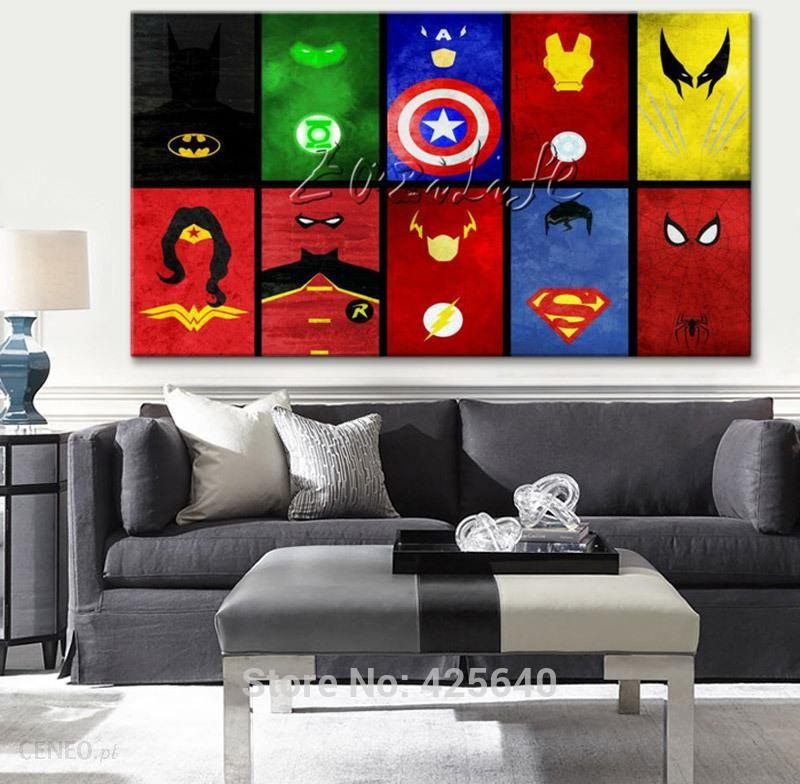 Aliexpress Marvel Comics Dla Home Decor Plakat I Druku Zdjęcia ścienny Do Salonu Płótnie Druku Avengers Wall Art ściany Decor02 Ceneopl