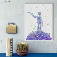 Aliexpress Abstrakcyjna Akwarela Mały Książę Bajki Plakaty Filmowe Drukuj Wall Art Picture Nordic Chłopczyk Kids Room Decor Duży Płótnie Malarstwo