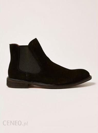312c68b719b34 SELECTED HOMME Black Suede Baxter Chelsea Boots - zdjęcie 1