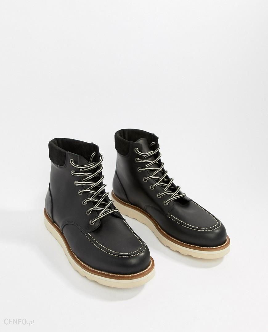 a8bb4a72f7d Office Idyllic hiker boots in black leather - Black