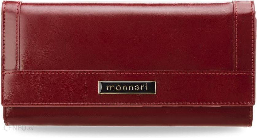 e94177dc9ac0f Portfel damski monnari skóra naturalna klasyczny kształt mini-kopertówki -  czerwony - zdjęcie 1