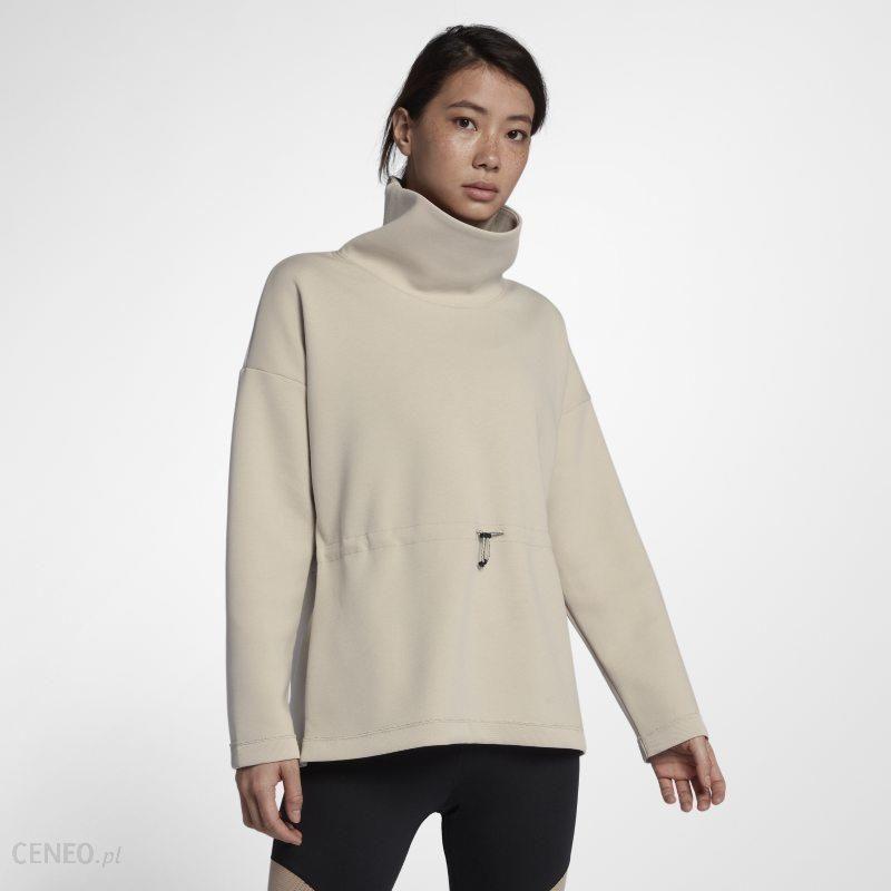 niska cena przyjazd niesamowita cena Damska bluza treningowa z kominem i długim rękawem Nike Dri-FIT - Kremowy -  Ceny i opinie - Ceneo.pl