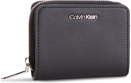 4eb1d00cad4d8 Mały Portfel Damski CALVIN KLEIN - Stitch Med Zip W/Flap K60K604857 001  eobuwie