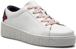 c7a03b028d3e0 Sneakersy TOMMY HILFIGER - Tommy Fashion Sneaker FW0FW03689 White 100  eobuwie