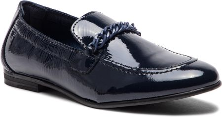 1c08b8c57d701 Lordsy TOMMY HILFIGER - Rubberized Chain Loafer FW0FW03763 Tommy Navy 406  eobuwie