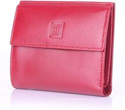 6a52a2000cc3a SŁOŃ TORBALSKI Damski mały portfel skórzany - czerwony