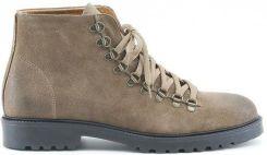 caafc6b5dbfab Made in Italia skórzane buty męskie za kostkę sztyblety brązowy 41 -  zdjęcie 1