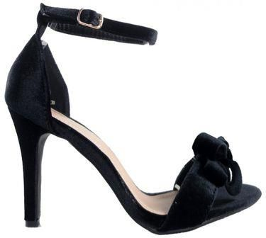 88b5a0af7d135 Czarne Szpilki Sandały Na Szpilce Pasek Kostce : Rozmiar Buta - 40
