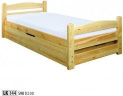 Drewmax Pacyga łóżko Sosnowe Lk 144 Drewniane Z Pojemnikiem 90x200 Dąb Opinie I Atrakcyjne Ceny Na Ceneopl