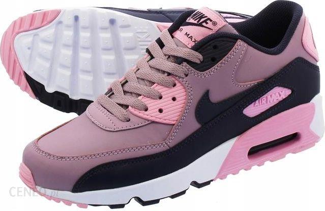 Buty Nike Air Max 90, biało różowe, skóra