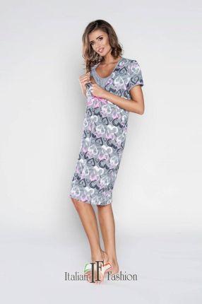 327fcab544821d Italian Fashion, Koszula nocna dla matek karmiących, Ana, krótki rękaw,  rozmiar M
