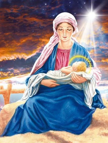 Drukarnia Garmond Plakat Religijny Matka Boska Z Dzieciątkiem Pr025