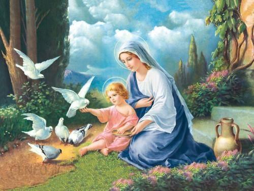 Drukarnia Garmond Plakat Religijny Matka Boska Z Dzieciątkiem Pr077 Ceny I Opinie Ceneopl