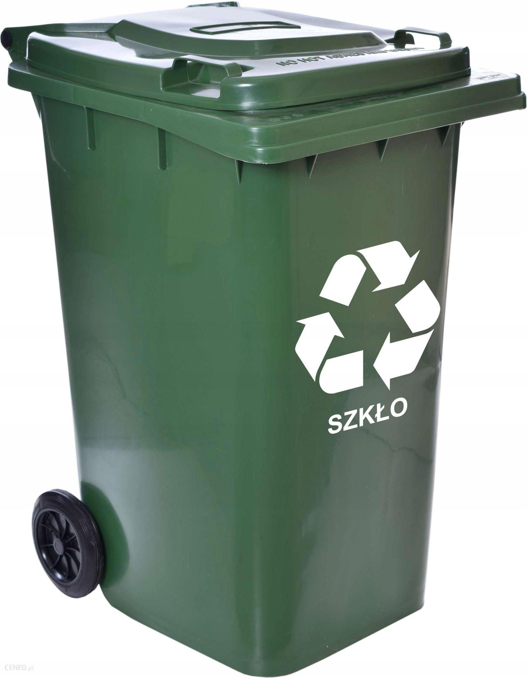 W Ultra Mirosław Gockowiak Kosz Na Śmieci Odpady 240L Zielony Pojemnik NE69