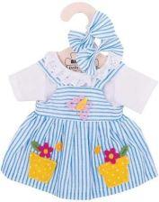 8b73ff7b06 Bigjigs Toys Ubranko 35Cm Niebieska Sukienka W Kropki Z Jelonkiem ...