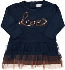 41bf505eef Dirkje Sukienka dziewczęca ze stylową spódniczką 98 niebieski