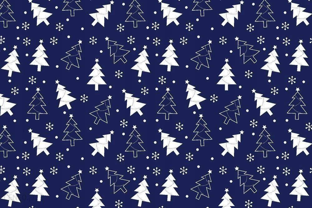 Pościel świąteczna 160x200 Granatowa Bawełna Choin Opinie I
