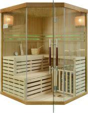 Wooder Sauna fińska z piecem EA3C 150x150 brązowy - Opinie i ceny na Ceneo.pl