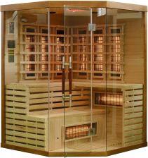 Wooder Sauna infrared z koloroterapią EA3CR 150x150 brązowy - Opinie i ceny na Ceneo.pl