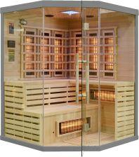 Wooder Sauna infrared z koloroterapią EA3CR 150x150 szary