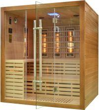 Wooder Sauna infrared z koloroterapią EA4R 180x160brązowy
